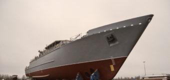 В Санкт-Петербурге спустили на воду тральщик «Яков Баляев»