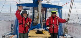Омская яхта «Сибирь» приближается к антарктической станции «Беллинсгаузен»