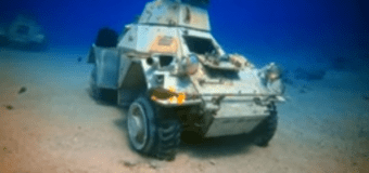 В Иордании создали подводный музей военной техники (видео)