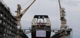 На Северной верфи спустили на воду головной траулер-процессор «Капитан Соколов»