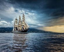 Барк «Седов» вышел из акватории Северного морского пути