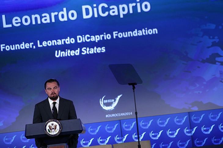 леонардо дикаприо на конференции our oceans
