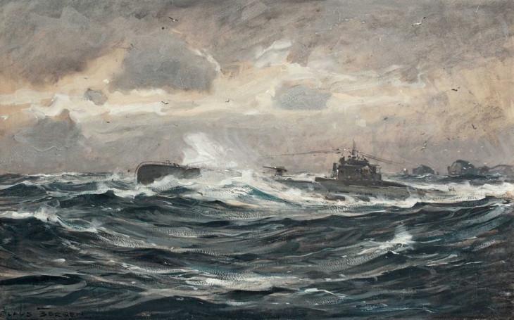 подводная лодка кайзеровского флота художник клаус берген