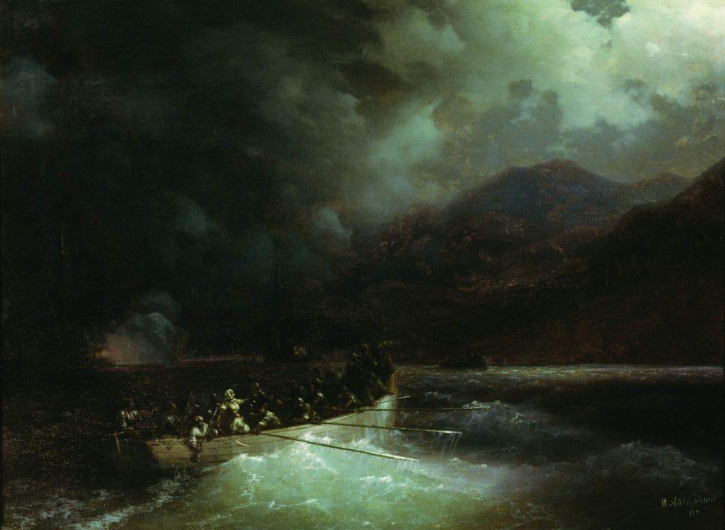 Бабулина на полотне Айвазовского