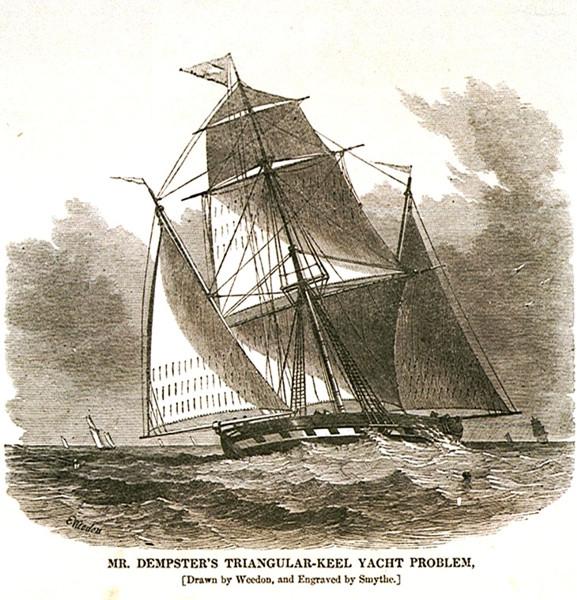 Яхта Problem, английская гравюра