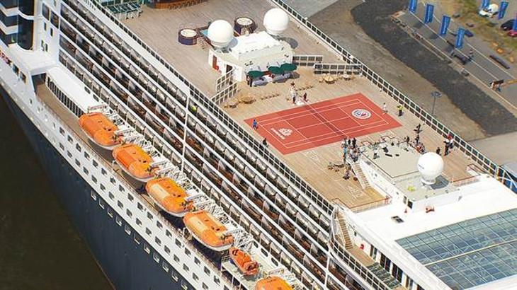 большой теннис на queen mary 2
