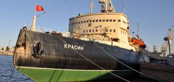 Ледокол «Красин» вернулся на место своей стоянки