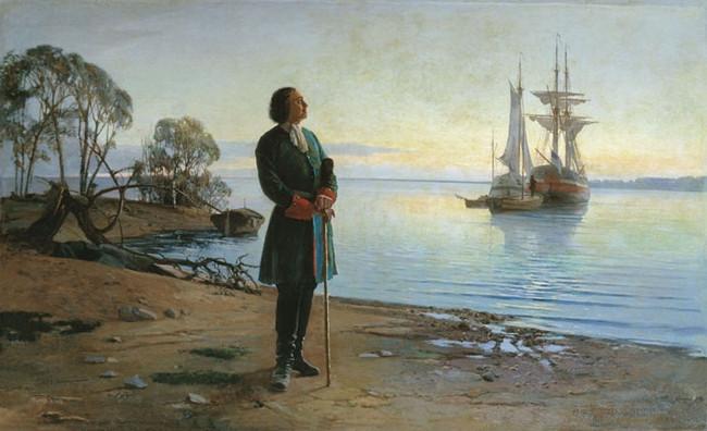 Пётр I на берегу Финского залива