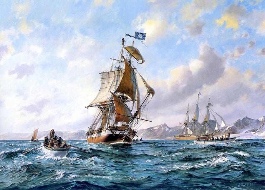 американские китобойные суда в антарктике