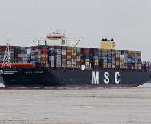 И вновь – крупнейший в мире контейнеровоз «MSC Oscar»