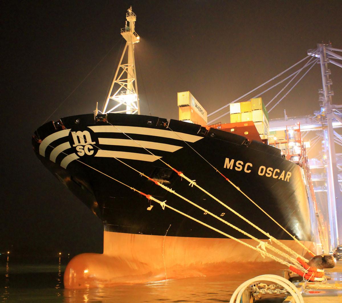 самый большой контейнеровоз «MSC Oscar»
