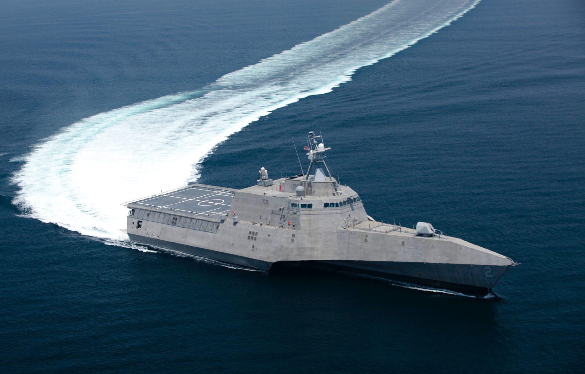 Американский «литоральный» корабль-тримаран «Индепенденс»
