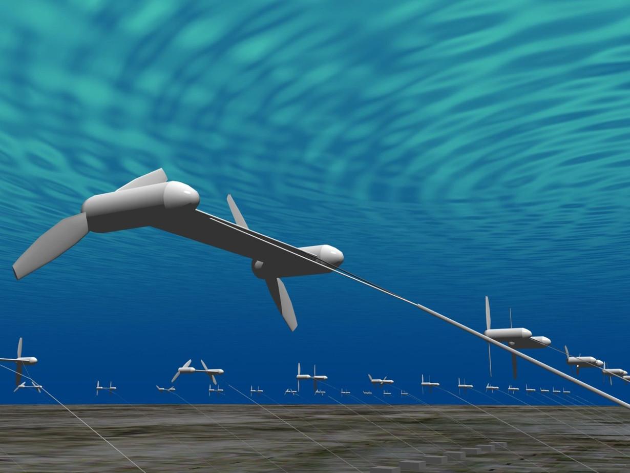электростанция - флот подводных кайтов
