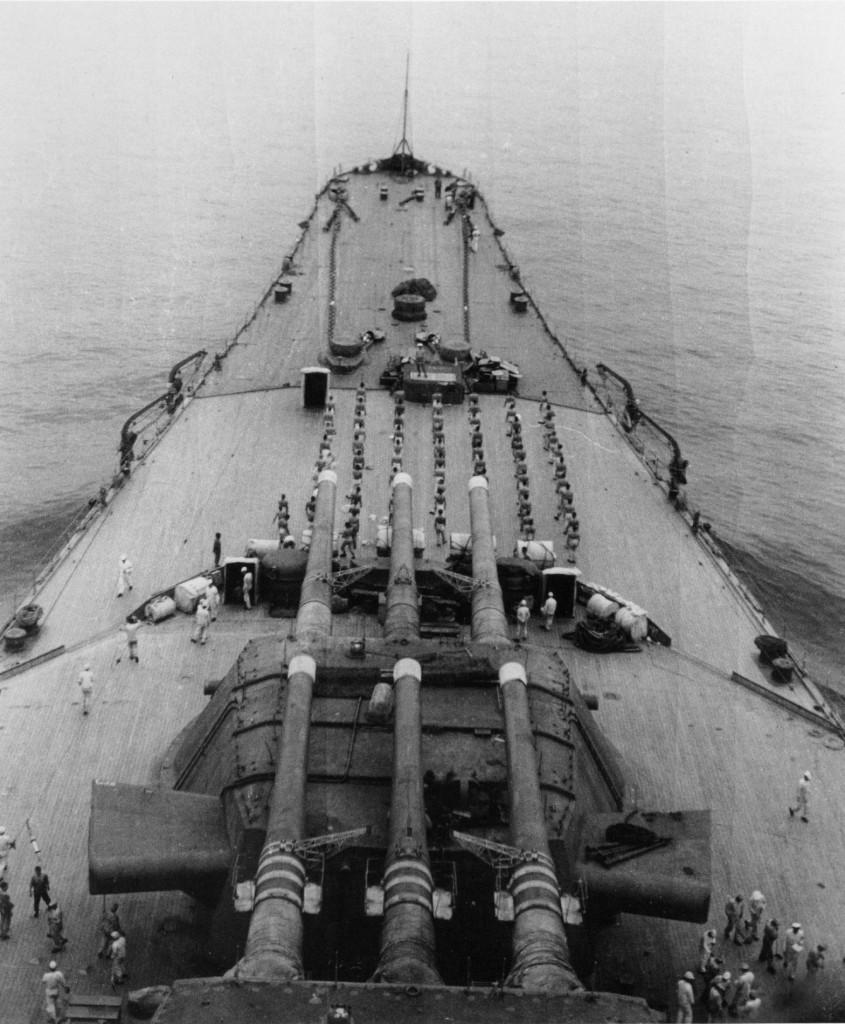 """Башни главного калибра линкора """"Мусаси"""", 1942 г."""