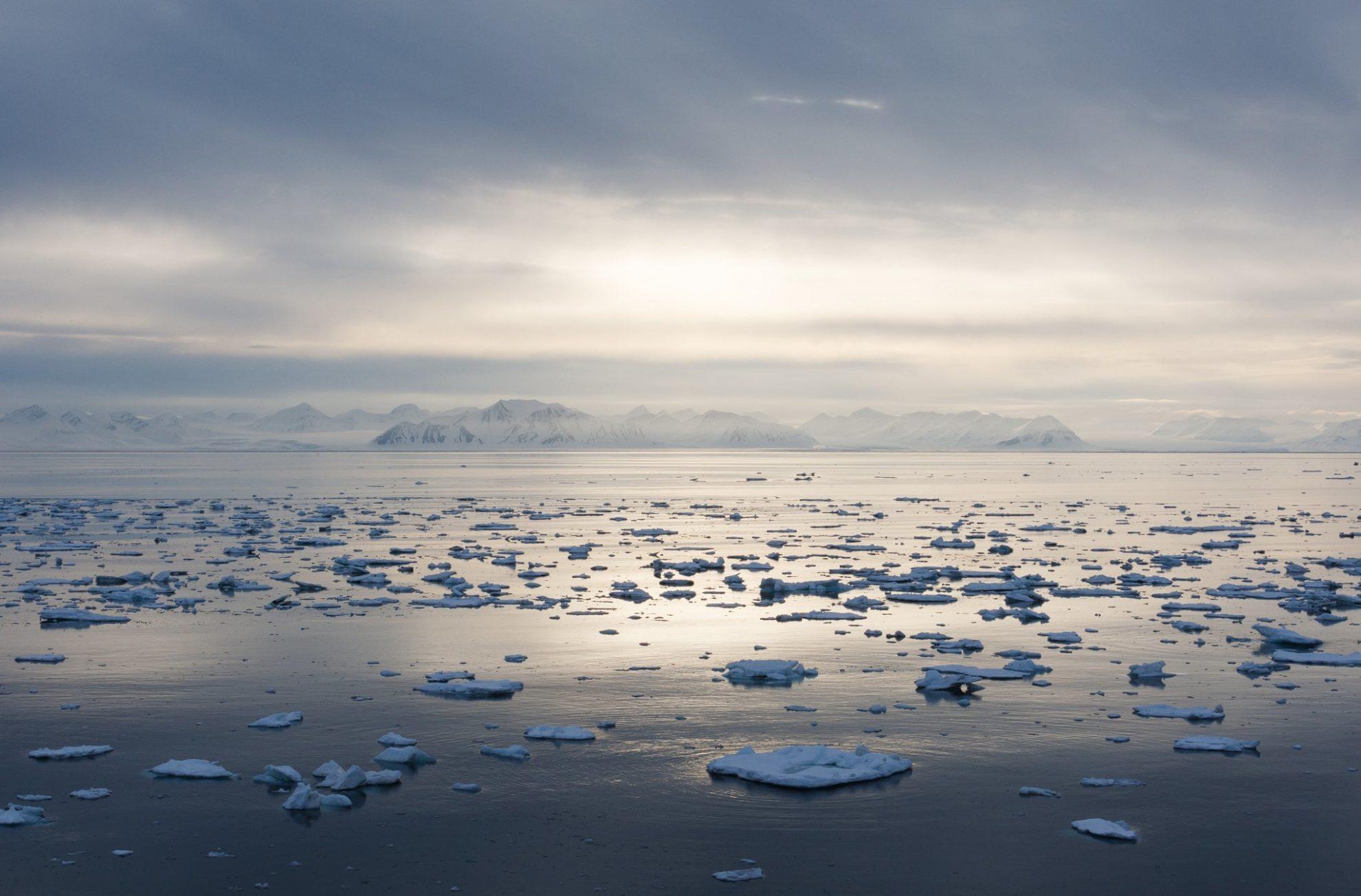 Таяние льдов а Арктике.