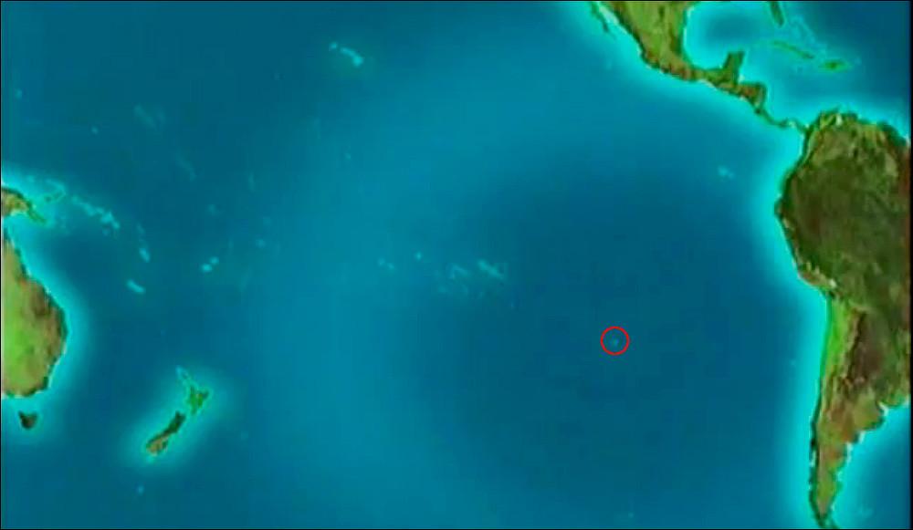 Остров пасхи на карте