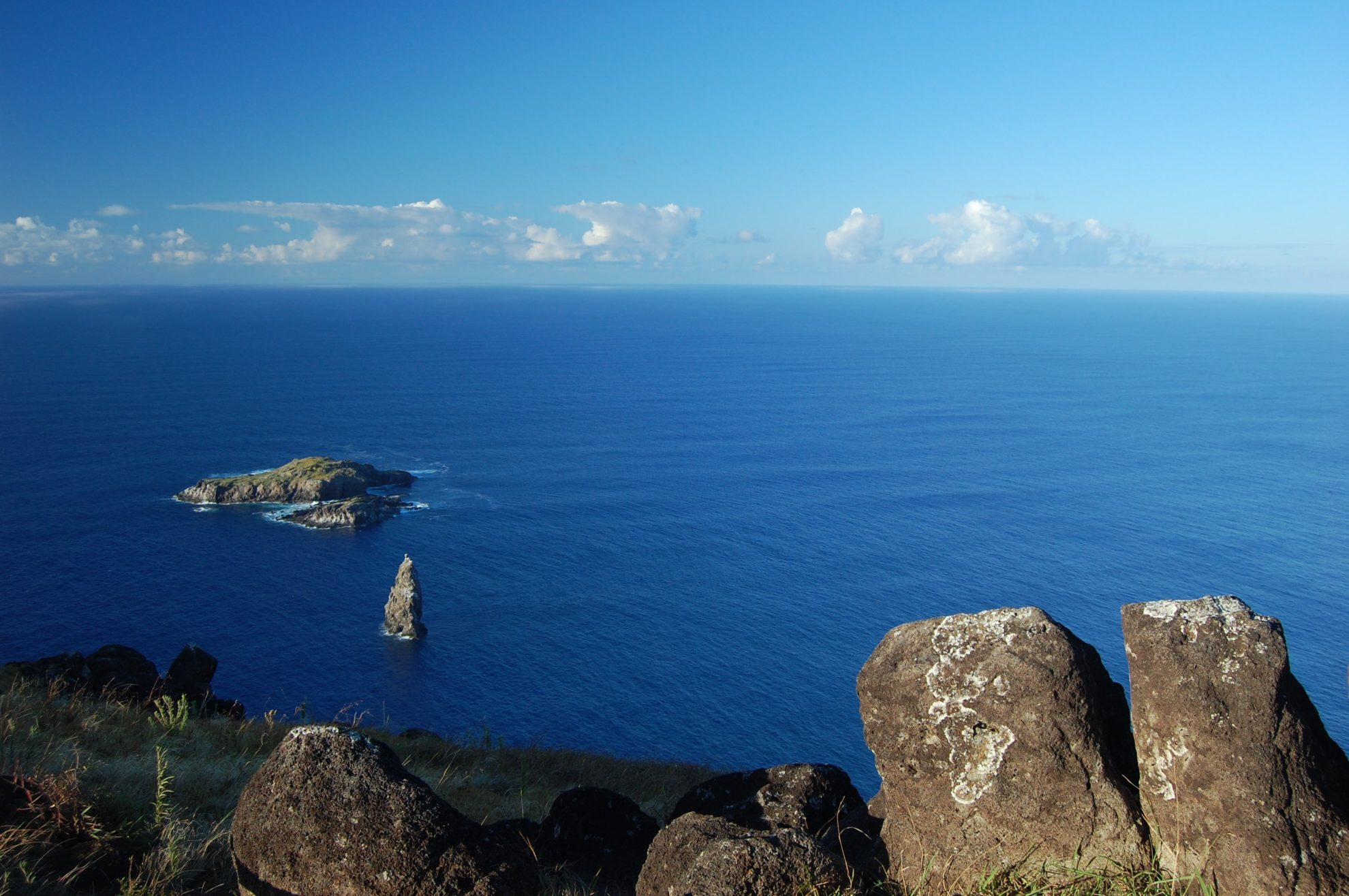 Берег Тихого океана с острова пасхи