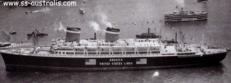 Лайнер «Америка» в 1940 г.