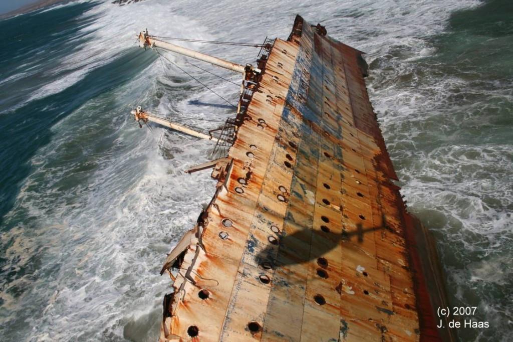Всё, что осталось от бывшего флагмана пассажирского флота Америки» к 2007 г.
