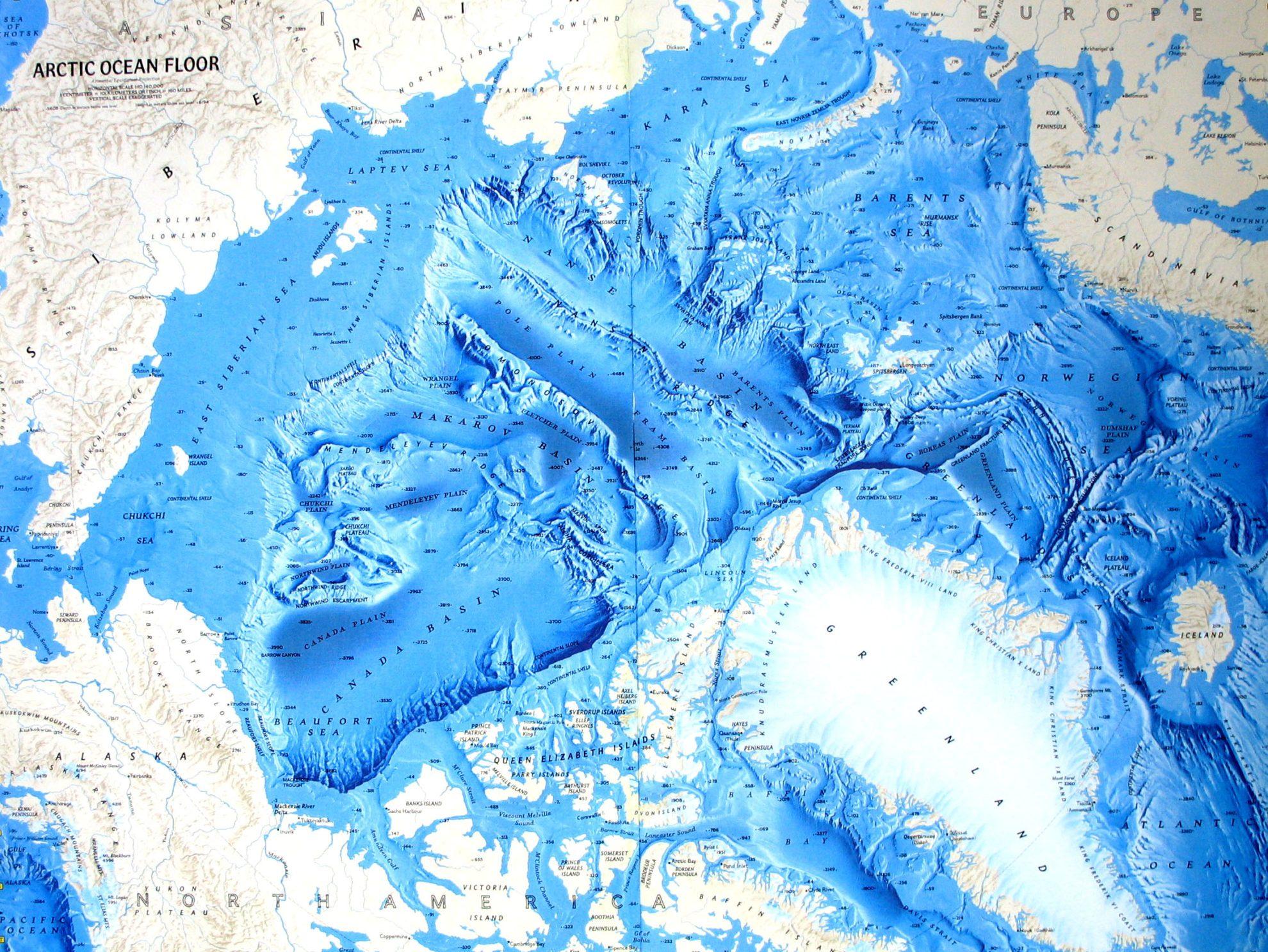 Северный ледовитый океан карта