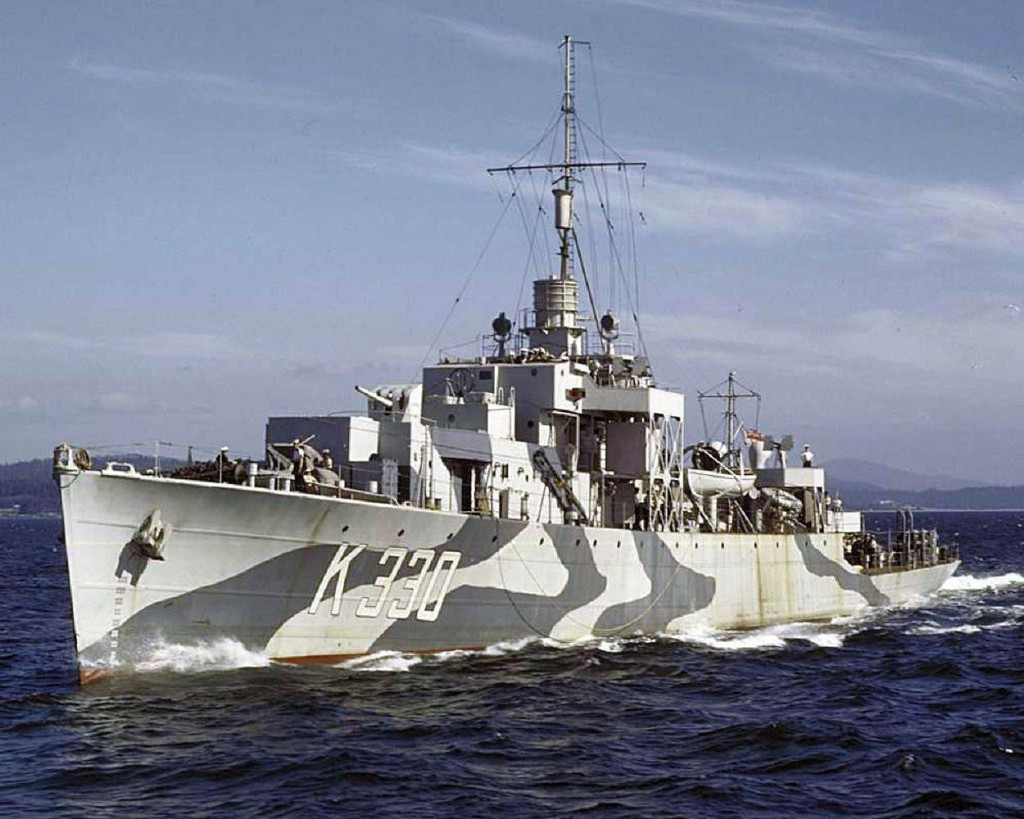 Канадский фрегат «Waskesiu» - один из кораблей типа «River»