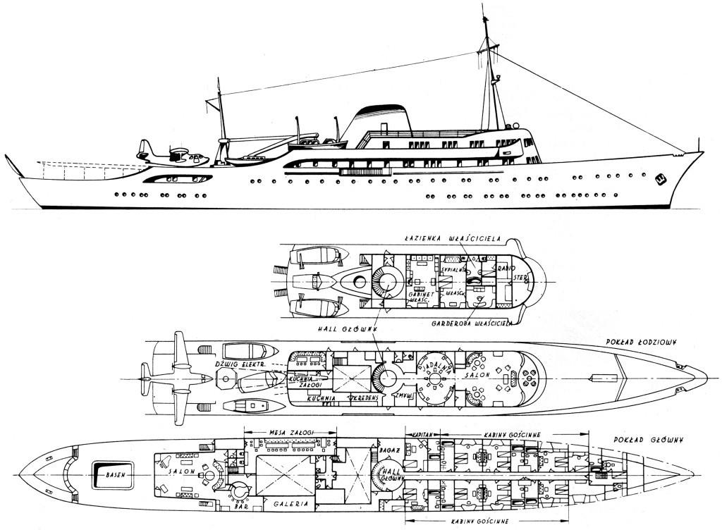 Чертежи яхты «Christina»
