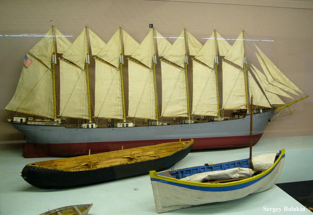 Модель парусника в экспозиции Музея науки (Science Museum) в Лондоне (ныне из экспозиции изъята)