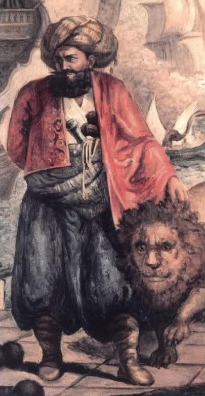 Джезаирлы Гази Хасан Паша. Легенда гласит, что бывший алжирский пират повсюду водил с собой своего любимого питомца – ручного льва