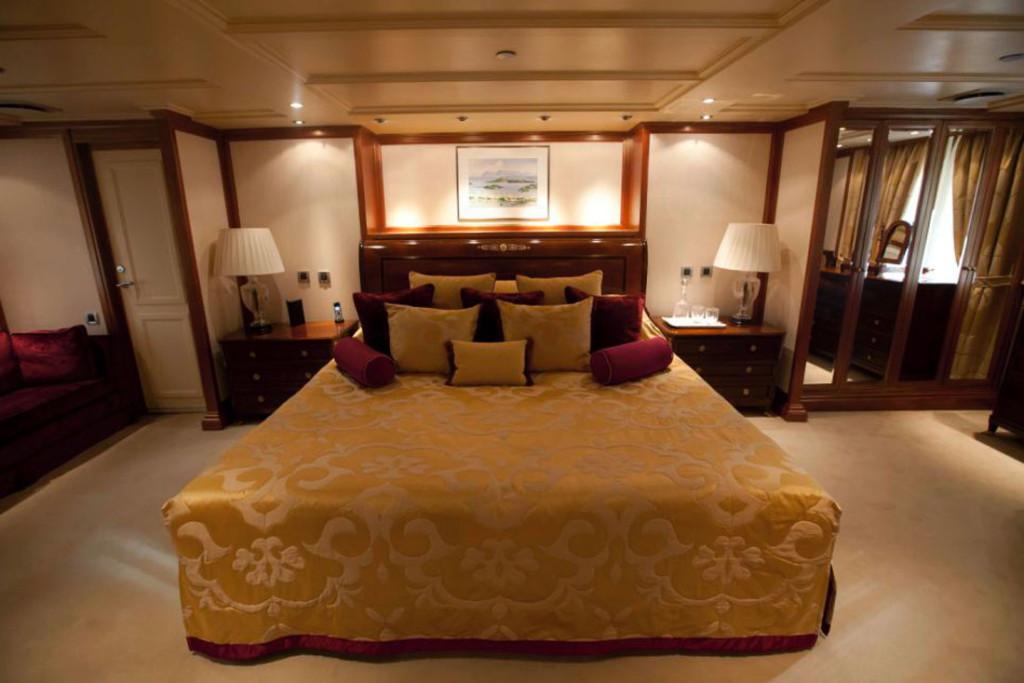 Спальня в сьюте Аристотеля Онассиса
