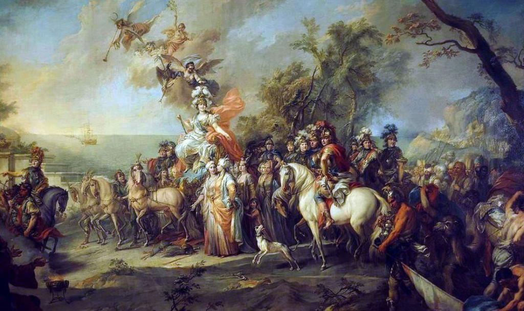Аллегория победы Екатерины II над турками. Художник Стефано Торелли