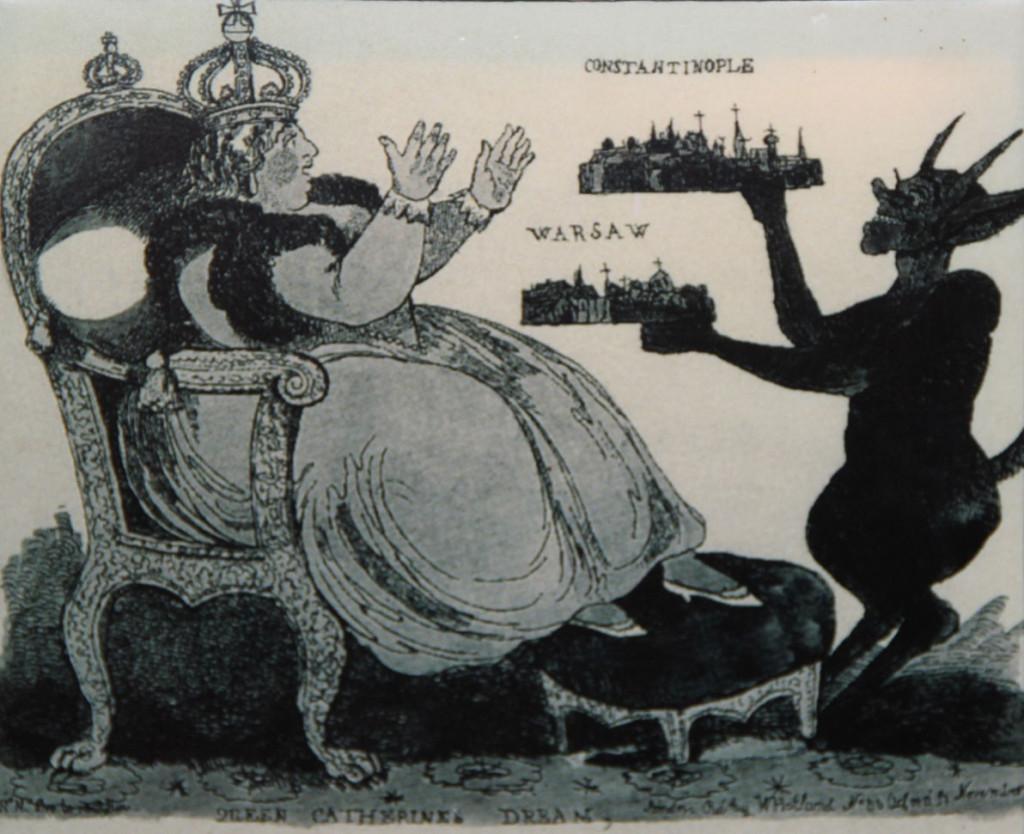 Ещё одна карикатура – «Искушение Екатерины»