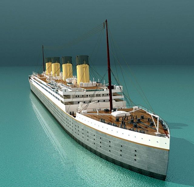 Компьютерная модель Титаника