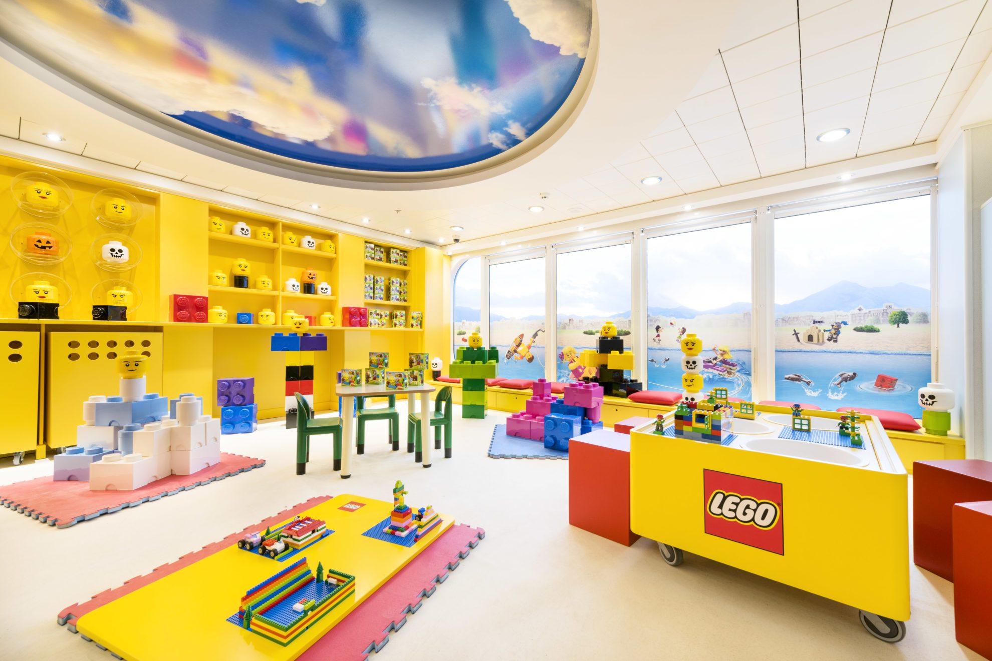 Комната LEGO  на  MSC Cruises