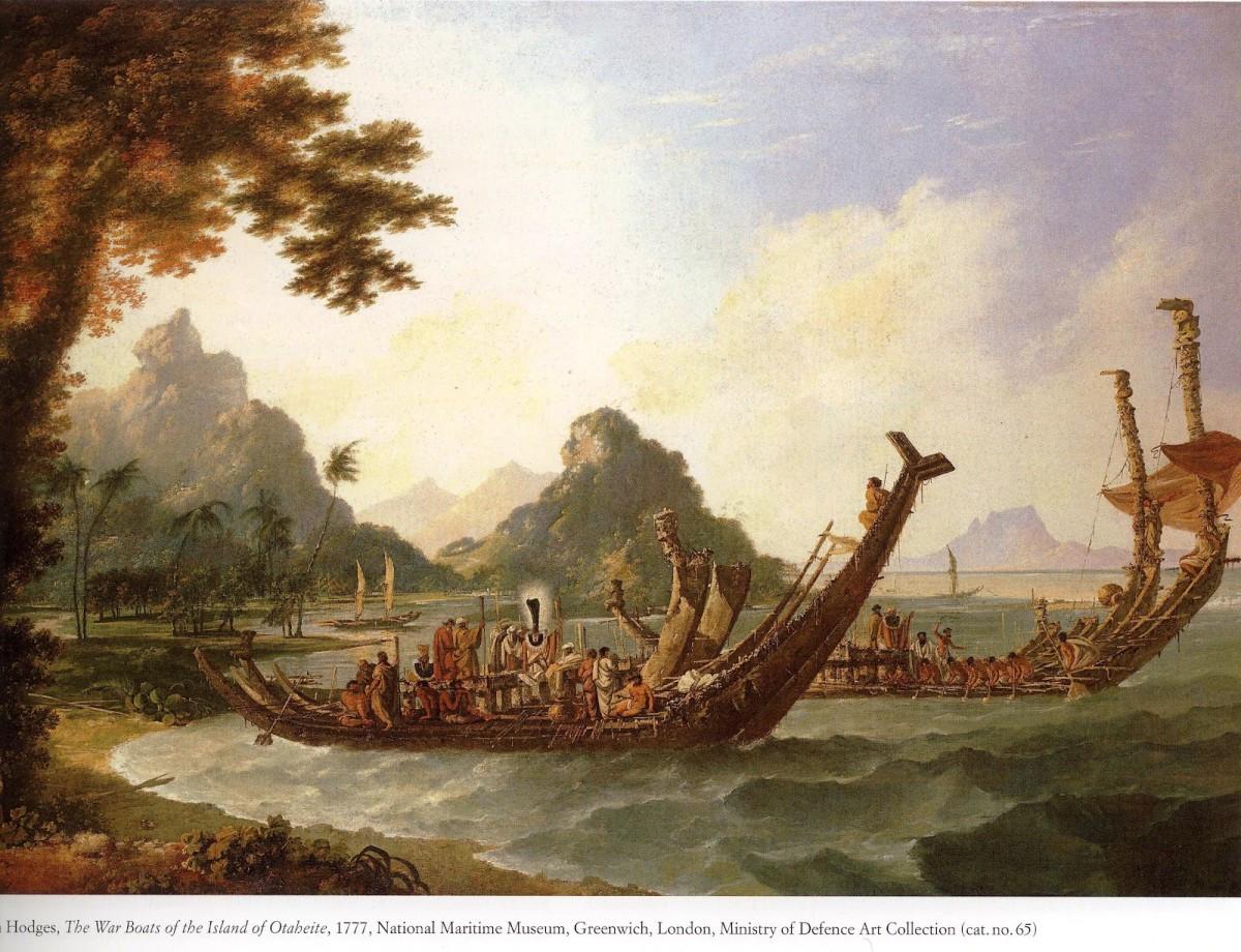 Hodges canoes at Tahiti