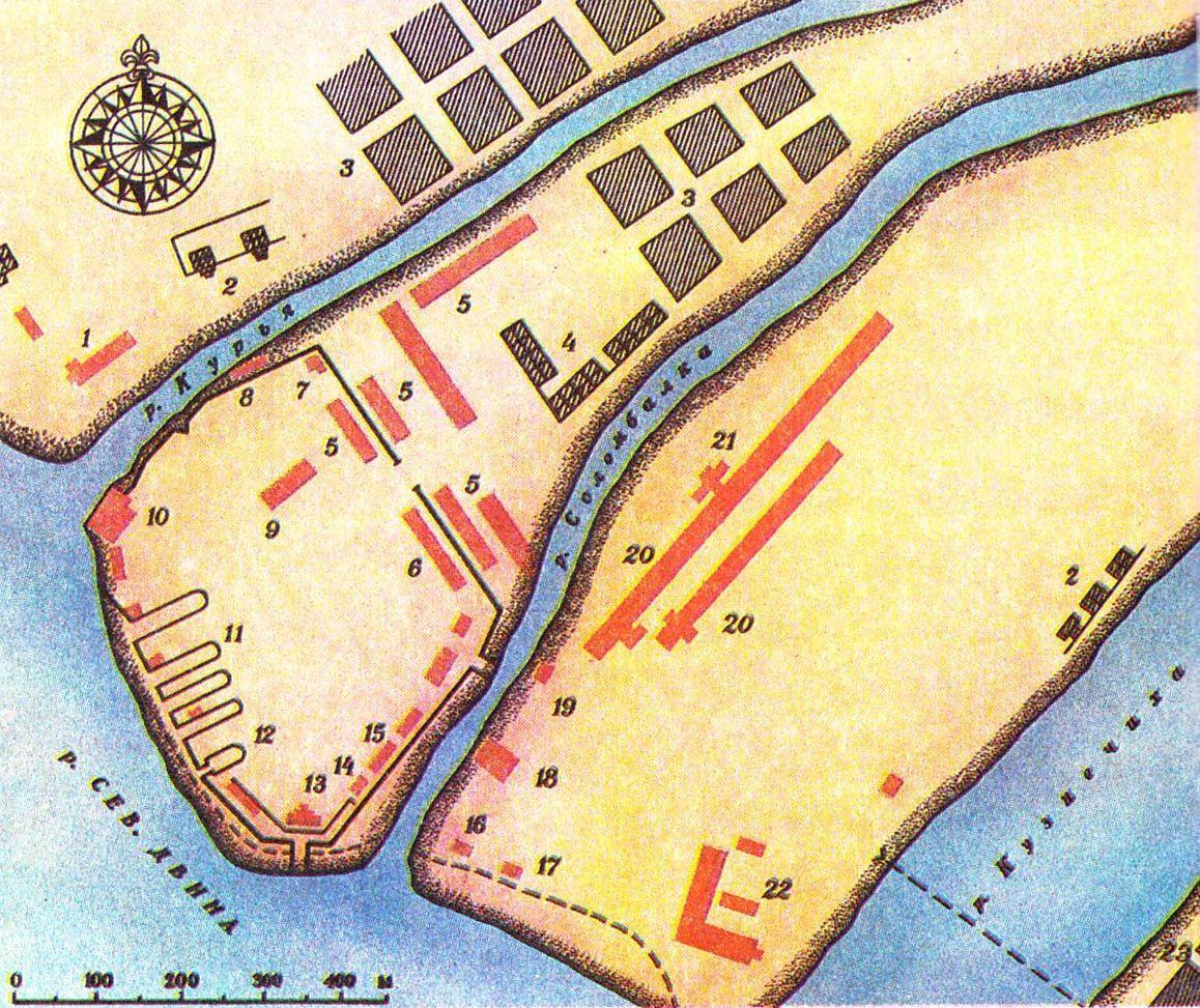 План Соломбальской верфи в 1741