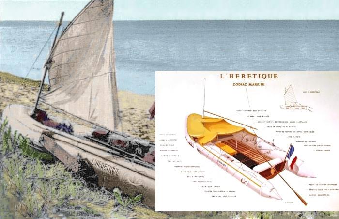 езиновая лодка Еретик - на ней Ален Бомбар отправился покорять океан