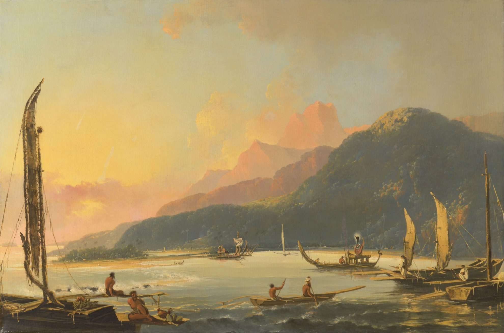 William_Hodges_-_Tahitian_War_Galleys_in_Matavai_Bay,_Tahiti_-_Google_Art_Project