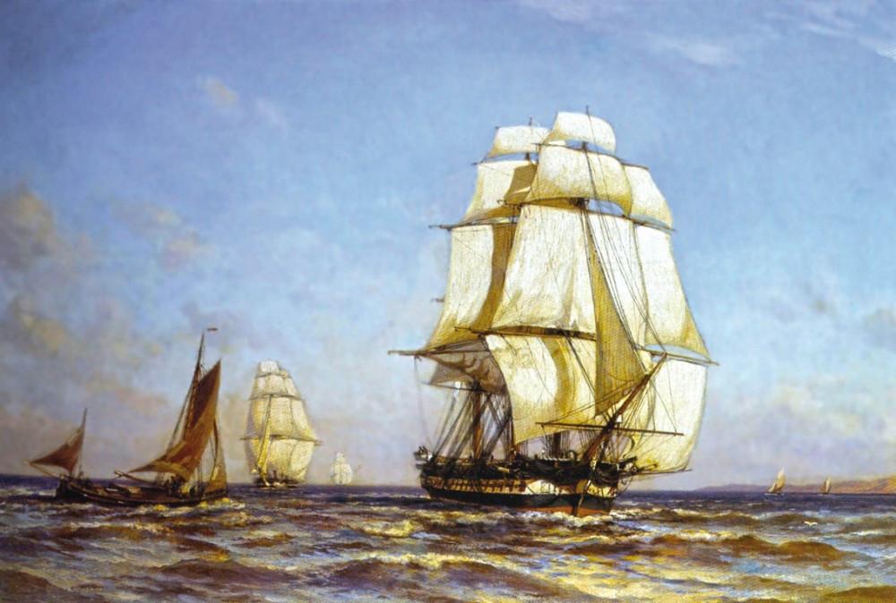 """Бриг """"Меркурий"""" . Заложен 31.7.1819 на Соломбальской верфи. . Строитель A. M. Курочкин"""
