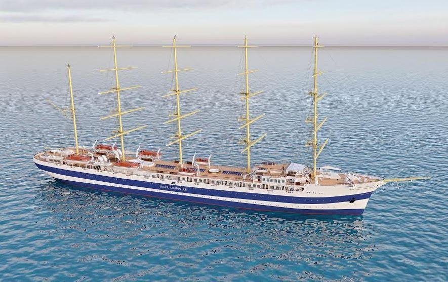Проектное изображение нового парусного пассажирского судна компании Star Clippers.