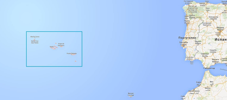 Схема расположения архипелага