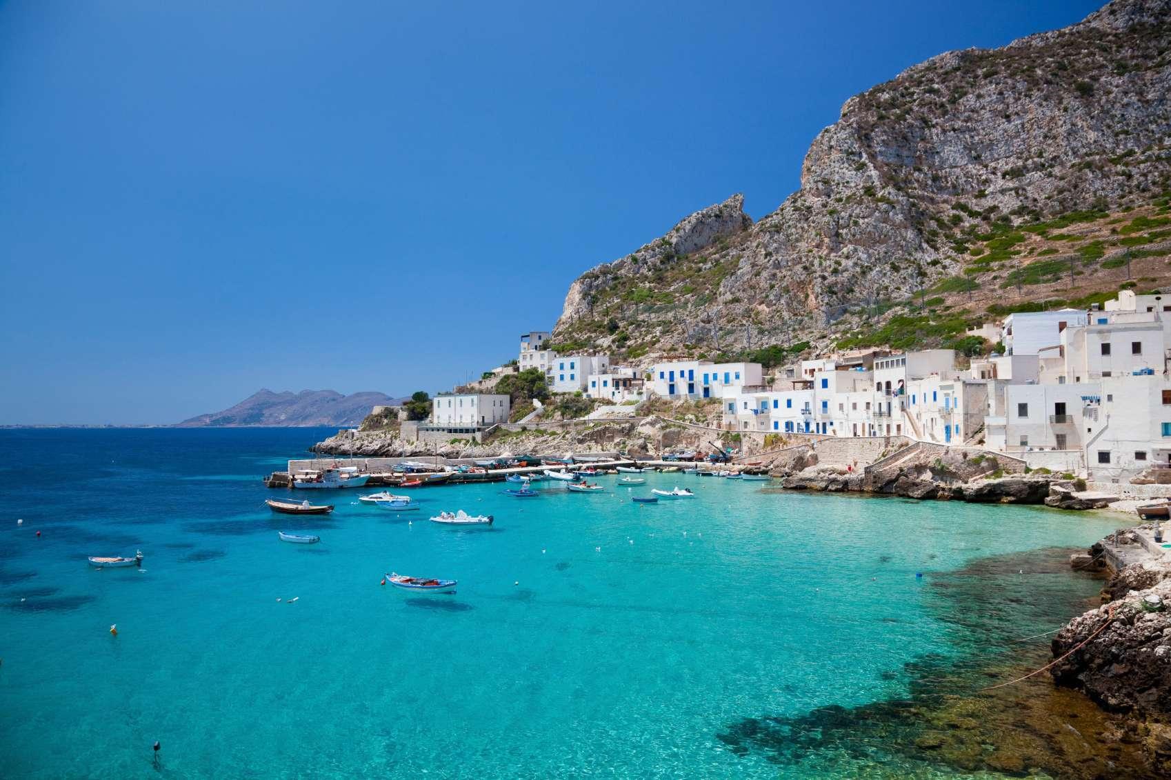 бирюзовые лагуны Сицилии.