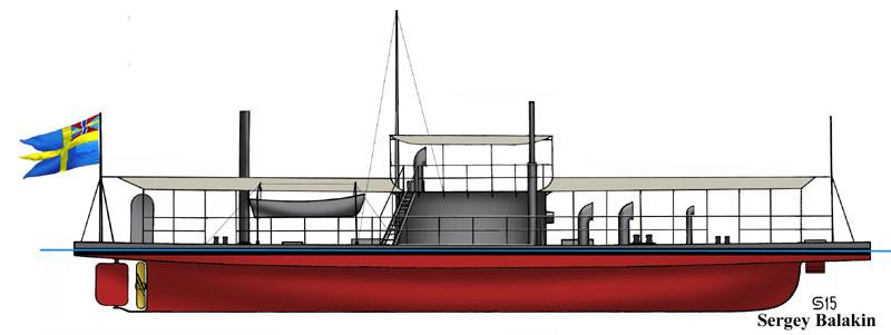 Броненосная канонерская лодка «Шёльд» («Sköld»). Реконструкция автора