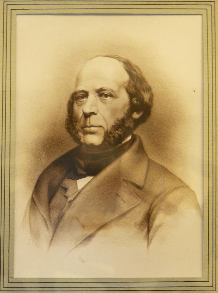 Джон Эриксон. Портрет в экспозиции Морского исторического музея (Sjöhistoriska museet) в Стокгольме