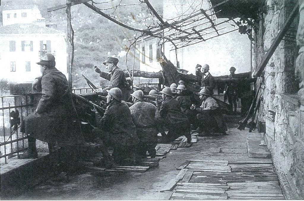 Бойцы Республики Фиуме обороняют город, декабрь 1920 г.