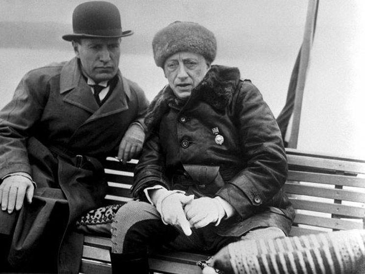 Бенито Муссолини и Габриэле д'Аннунцио