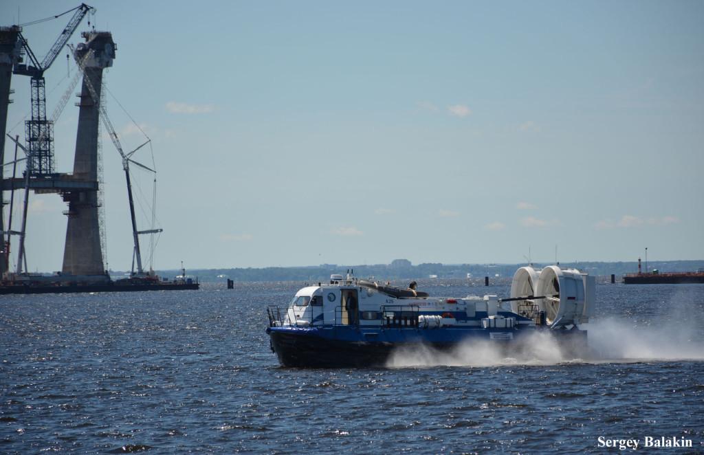 …и это судно на воздушной подушке А25, созданное ООО «Аэроход» из Нижнего Новгорода