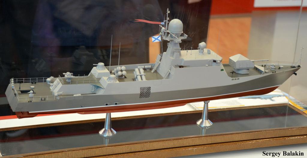 Модель малого ракетно-артиллерийского корабля проекта 21632 «Торнадо»