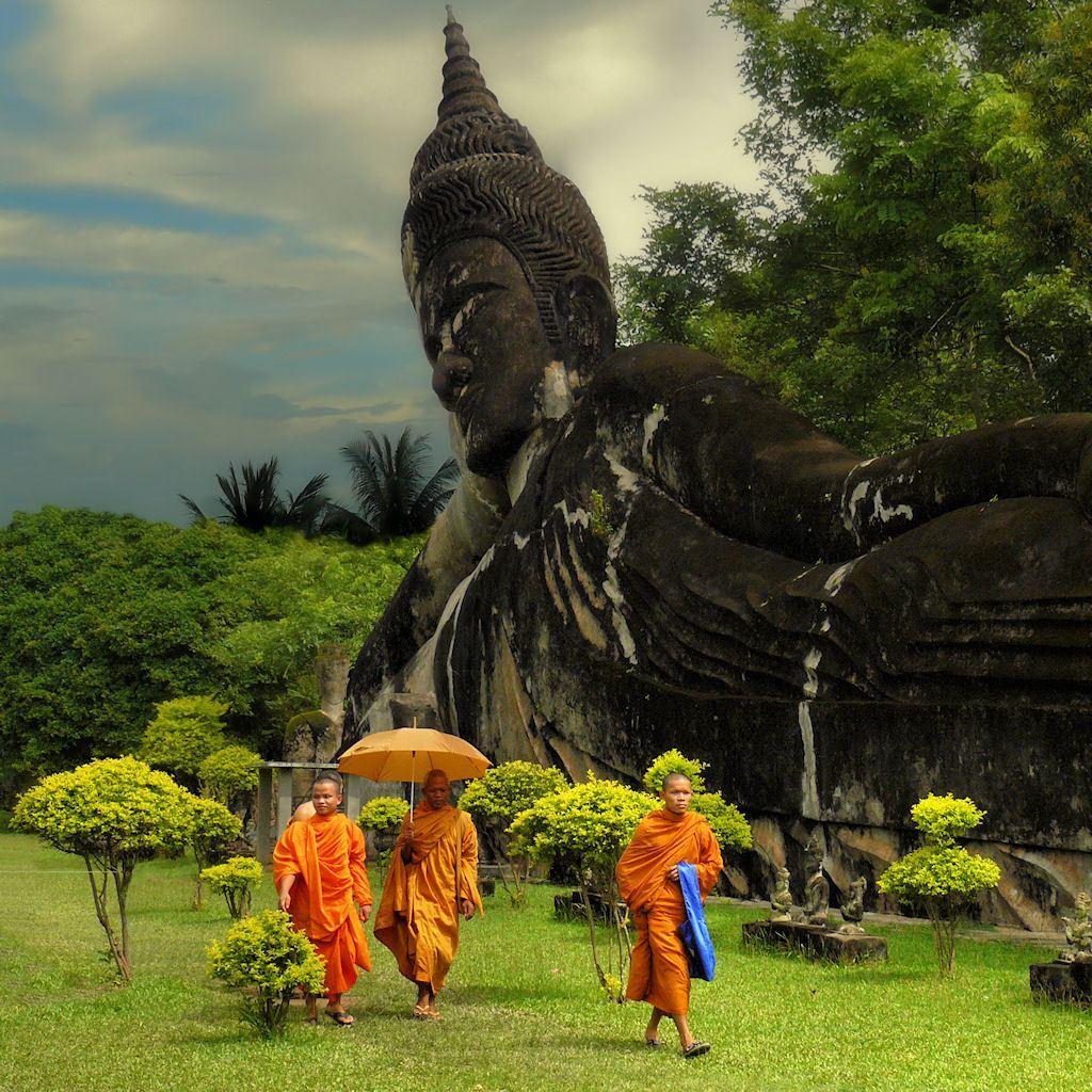 Сад Будды. Лаос.