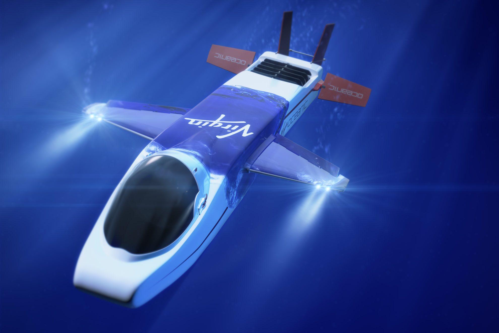 Еще одно морское увлечение - глубоководный аппарат  -Virgin Oceanic (Хоукс именует его DeepFlight Challenger)