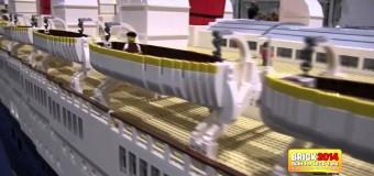 Самая большая в мире Lego модель судна Queen Mery.